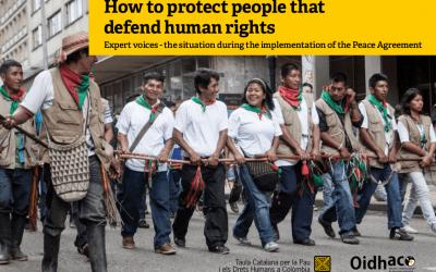 Cóm protegim a qui defensa els drets humans a Colòmbia