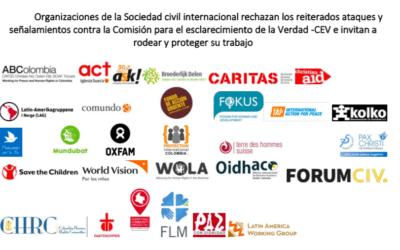 Organitzacions de la societat civil internacional rebutjen els atacs contra la Comisión para el Esclarecimiento de la Verdad (CEV) i conviden a protegir i acompanyar la seva feina